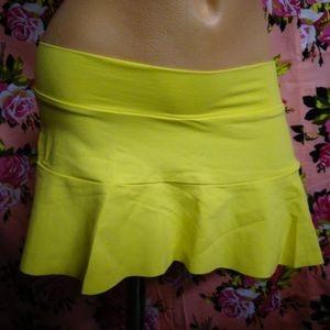 Yellow vintage Becca skirt rave festival swim